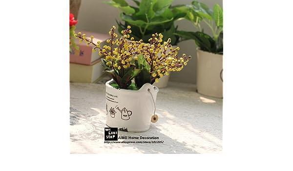 Lndlich Stil Zakka Keramik Tpfe Pflanz Auspicious Frchte Knstliche Blumen  Bonsai Simulation Grne Pflanzen Home Garten Decor Samen Nur: Amazon.co.uk:  Kitchen ...