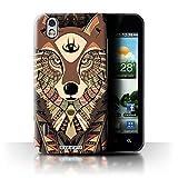Coque de Stuff4 / Coque pour LG Optimus Black P970 / Loup-Sépia Design / Motif Animaux Aztec Collection