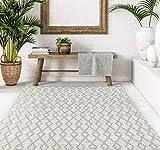 VIVACE CarpetLiving.Com - Tappeto bay - 140x200 cm | Tessuto a Mano | Griggio/Chiaro | Tappeto di Design Moderno | Soggiorno, Camera da Letto, Cucina (Grigio Chiaro)