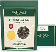 VAHDAM, Green Tea Leaves from Himalayas (50+ Cups) I 100% Natural & Organic I Powerful ANTIOXIDANTS I Serv