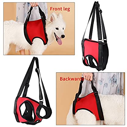 Dog Lift Harness Front Rear Dog Support Harness Walking Aid Lifting Pulling Vest for Old Injured Dogs 7