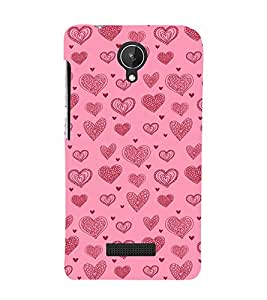 EPICCASE Hearty love Mobile Back Case Cover For Micromax Canvas Spark Q380 (Designer Case)