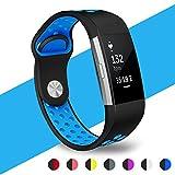 Fitbit Charge 2 Bracelet, WZE Gel de silice réglable Soft Silicone Remplacer les bandes de sangles de sport pour Fitbit Charge2 Cardiaque + Fitness Wristband