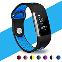 Fitbit Charge 2 Strap WZE Adjustable Silica gel Soft Silicone Replacement Sport Strap Bands for Fitbit Charge2 Heart Rate + Fitness Wristband