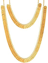 YouBella Jewelry Gold Plated Combo Of Two Necklace For Girls Fashion Party Wear Jewellery Set For Girls/Women