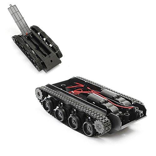 jieGREAT Kind Puzzle Spielzeug Smart Robot Kesselwagen, Chassis Kit Gummiraupenkette für 130 Motor