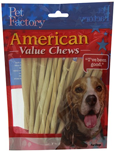 PET FACTORY 28054American Beef-Hide Premium Twist Sticks, 12,7cm, 25Stück,