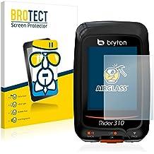 BROTECT AirGlass Protector Pantalla Cristal Flexible Transparente para Bryton Rider 310 Protector Cristal Vidrio - Extra-Duro, Ultra-Ligero, Ultra-Claro