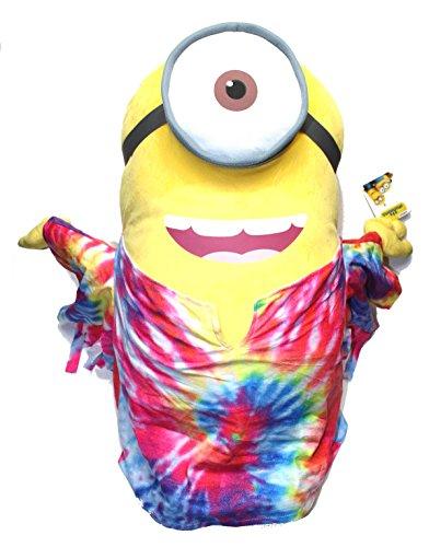 Minions Plüschtier Plüsch Figur Kuscheltier Stofftier XXL Stuart im Hippie Love Peace Kostüm 60cm [Versand durch Konsumany®] (Kind Im Minion Kostüm)