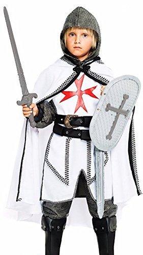 Fancy Me Italienische Herstellung 7 Stück Jungen Luxus Ritter mit Schild und Schwert Karneval büchertag Woche Halloween Kostüm Kleid Outfit 4 bis 10 Jahre - 4 years