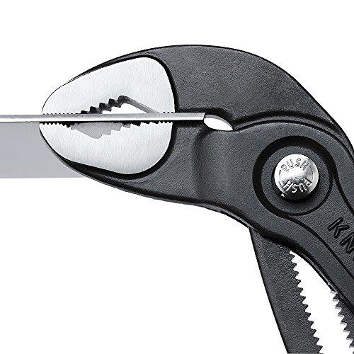 Knipex Cobra – Hochleistungs-Wasserpumpenzange mit Schnelleinstellung und schlanken Mehrkomponenten-Griffhüllen, 250 mm, Rohre bis 50 mm - 9
