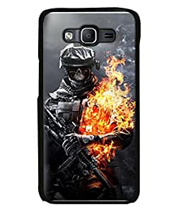 FUSON Designer Back Case Cover for Samsung Galaxy On5 Pro (2015) :: Samsung Galaxy On 5 Pro (2015) (Golden Division Skull Masks Iraqi Special Forces )