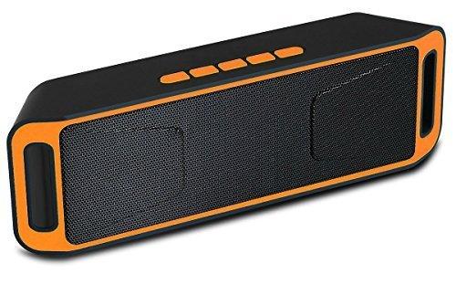 Altoparlante Portatile Suono surround Speaker Bluetooth, Magicmoon Altoparlante senza fili con costruito in viva voce Mic - Opere per Iphone, Ipad, iTouch e altri intelligenti cellulari, lettori MP3 (Arancia)