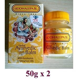 Siddhalepa Ayurveda ayurvedische Herbal Natural Kräuterbalsam Siddhalepa Linderung von Erkältungen, Grippe, Kopfschmerzen, Zahnschmerzen, häufige Kopfschmerzen und Schmerzen 50g