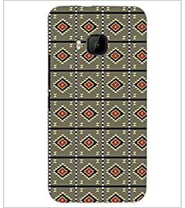 PrintDhaba Pattern D-5217 Back Case Cover for HTC ONE M9S (Multi-Coloured)