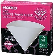 فلتر ورقي للقهوة في 60 من هاريو