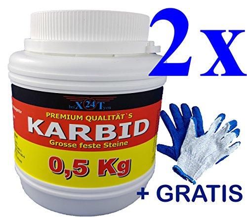 bri\'X24T\'you Karbid 1.00KG✔️24hDHLVersandMarken Premium KARBID(A.Ql.Rg.6601)*UNERREICHT in QUALITÄT & WIRKUNGsDauer*Feste große Steine mit Langzeitwirkung (1,00KG)