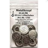 8 Metall Knöpfe silberf. 20 mm