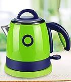DHG Kleine Power Wasserkocher Studentenschlafsaal Mini Edelstahl Wasserkocher 700W 0.8Liter Grün/Pink (Größe: Highth20 * Breite22Cm) Wasserkocher,Grün