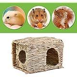 YFairy – Casa de Paja Plegable para Mascotas, Bricolaje, Conejo, hámster, Erizo, cobaya, Nido de Hierba Hecho a Mano, Suministros