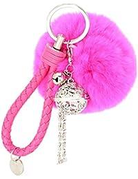 15e1db0f1cd9d Ularma Elegant Plüsch Ball Schlüsselanhänger Weich Keychain  Handtaschenanhänger Dekor