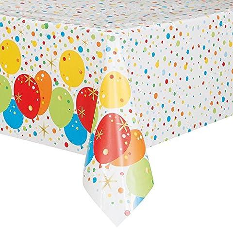 Unique Party 58213Folie Glitzy Happy Birthday Kunststoff Tischdecke