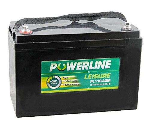 PL110-AGM Powerline AGM Leisure and Marine Batteria 100Ah