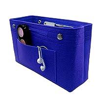 VANCORE Felt Insert Handbag Organizer Travel Purse Bag Organiser Blue Small