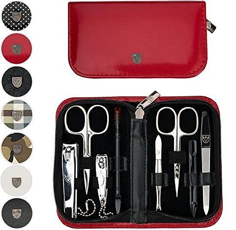 TROIS EPÉES | Kit / set / ensemble / trousse de manicure - manucure - pédicure - beauty / beaute - soins des ongles / personnels / mains / pieds | 8 pièces | DIVERS DESIGN |marque de qualité (920416)