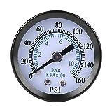 40mm Dia 0-160psi / 0-10 bar Dual Scale Pneumatische Hydraulische Manometer Messgerät Gas Wasser Öldruck Tester Piezometer 1/8