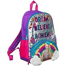 JoJo Siwa Bow Backpack Ruck Sack Sholder Bag Large Poket Print Back Pack Arco iris,