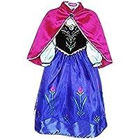 Vestido de princesa Live It Style IT, disfraz de reina del hielo, de fiesta, inspirado en Anna Elsa Anna2 2-3 Años