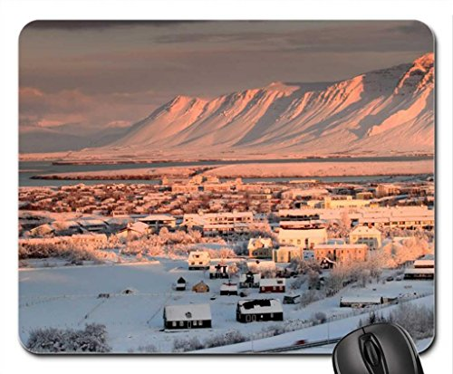 beautiful-bay-side-town-in-iceland-mouse-pad-mousepad-houses-mouse-pad