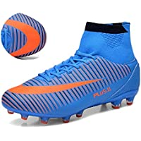 BOLOG Größe EU35-45 Fußballschuhe AG Spike Microfaser Cleats Beruf Athletics High Top(Fußballschuhe mit Socken)