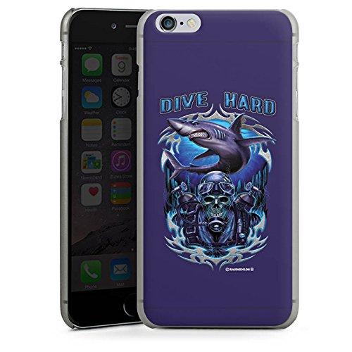 Apple iPhone X Silikon Hülle Case Schutzhülle Hai Skull Wasser Hard Case anthrazit-klar