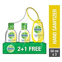Dettol Fresh Anti-Bacterial Hand Sanitizer 50ml 2+1 Free