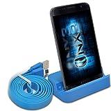 (Blue) Samsung Galaxy J3 (2016) Base USB de support de bureau Data Sync Dock Station de recharge + Data Sync Cable ONX3