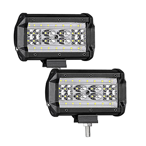 dbb301428e7 84W Projecteur Phare de Travail LED WANYI 5 Inch Feux Antibrouillard LED  8400LM 6000K Feux de