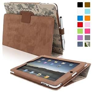 Snugg iPad 2 Hülle (Camoflauge) - Smart Cover mit Automatische Schlaf-Spur, Aufsteller, elastischer Handschlaufe, Stylus-Halterung und Premium Nubuck Innenfutter für Apple iPad 2