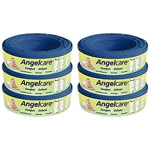 ANGELCARE CAPTIVA - ERSATZKASSETTEN 6 STÜCK SPARPACK NEU 2010 PASSEND FÜR ALLE ANGELCARE- UND CAPTIVA WINDELEIMER