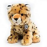 Gepard Baby CHEETAH sitzend Plüschtier 31 cm von Kuscheltiere.biz