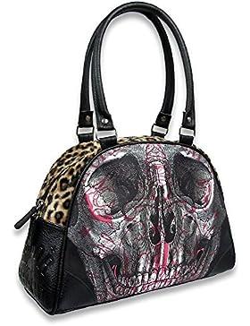 Liquor Brand Damen Tasche Handtasche Skull B-OBW-057