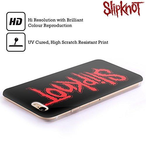 Offizielle Slipknot Logo Kunst Soft Gel Hülle für Apple iPhone 6 Plus / 6s Plus Text