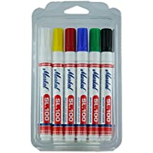 Markal 31200120 SL.100 rotuladores, Kit 6 colores, punta redonda de 2 –
