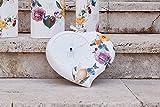 Orologio da parete in Ceramica Cuore, decoro BEAUTIFUL LIFE