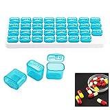alwayswe 31Tag Pille Aufbewahrungsbox, 31Tag Monatliche Pille Veranstalter Tablet Medizin Aufbewahrungsbox Spender Deckel Box Halter