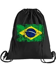 8776961e31 T-Shirt People Brasile Vintage Bandiera Sacca sportiva – Sacchetto stampato  – Una bella borsa