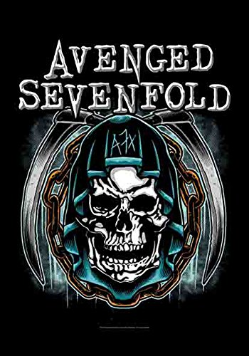 Avenged Sevenfold - Skull - poster drapeau - 100% Polyester - Taille 75 x 110 cm