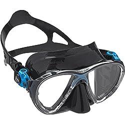 Cressi - Masque de plongée Sous Marine pour Adulte - Big Eyes Evolution - Noir (Noir/Bleu)