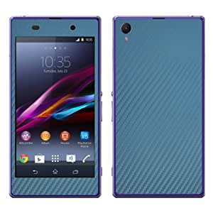"Disagu Design Skin für Sony Xperia Z1 LTE - Motiv ""Blue Carbon Look"""